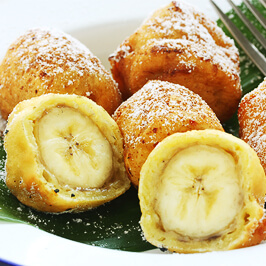 Banane în aluat