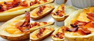 Cartofi copți umpluți cu bacon