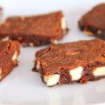 Brownies cu Nutela si ciocolata alba