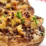 Ciuperci umplute cu bacon
