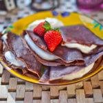 Clatite de ciocolata cu mascarpone