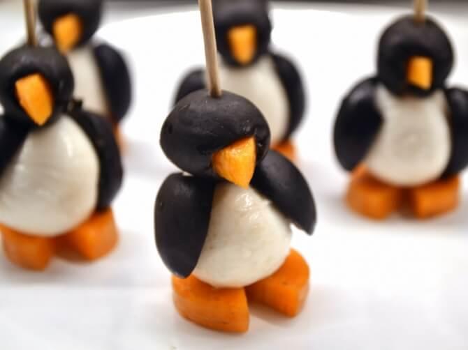 Pinguini din mozzarella