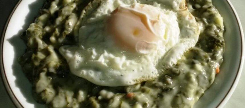 Spanac cu ou