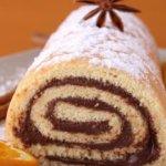 Prăjitură ruladă cu ciocolată